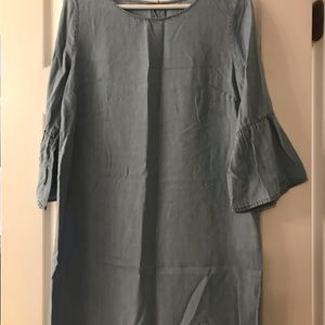Paper crane denim dress, size medium